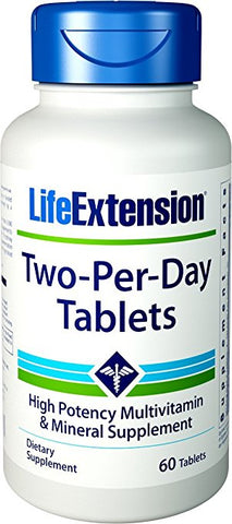 Life Extension Two-Per-Day Multivitamins 60 Tablets-Speedy Health Supplements