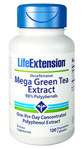 Mega Green Tea Extract (decaffeinated) -100 vcaps by Life Extension-Speedy Health Supplements
