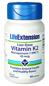 Life Extension Low-Dose Vitamin K2, Softgels, 90 ea-Speedy Health Supplements