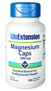 Magnesium Caps - Life Extension - 500 mg - 100 Vegetarian Capsules-Speedy Health Supplements