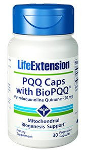 PQQ Caps BioPQQ - 30 Vcaps - 20mg - Life Extension-Speedy Health Supplements