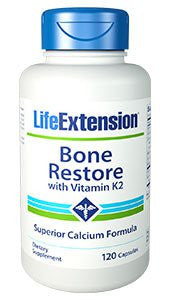 Life Extension Bone Restore with Vitamin K2 Capsules, 120 Count-Speedy Health Supplements