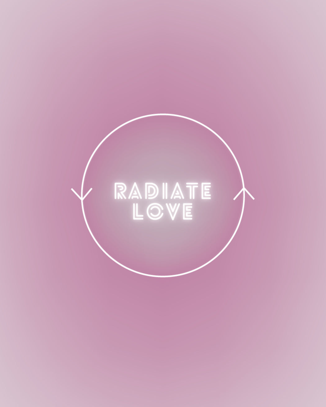 Radiate Love Art Print