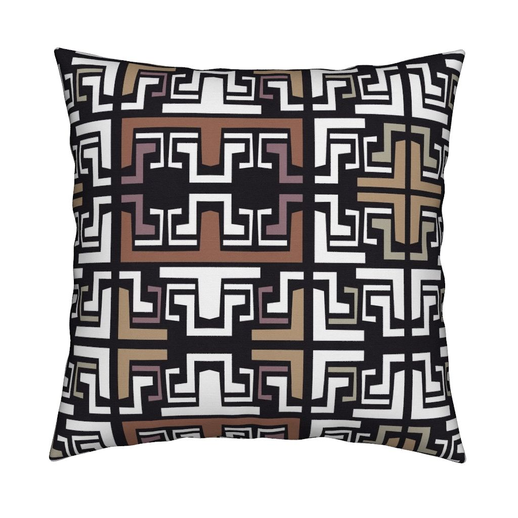 Yucatán in Black Decorative Pillow