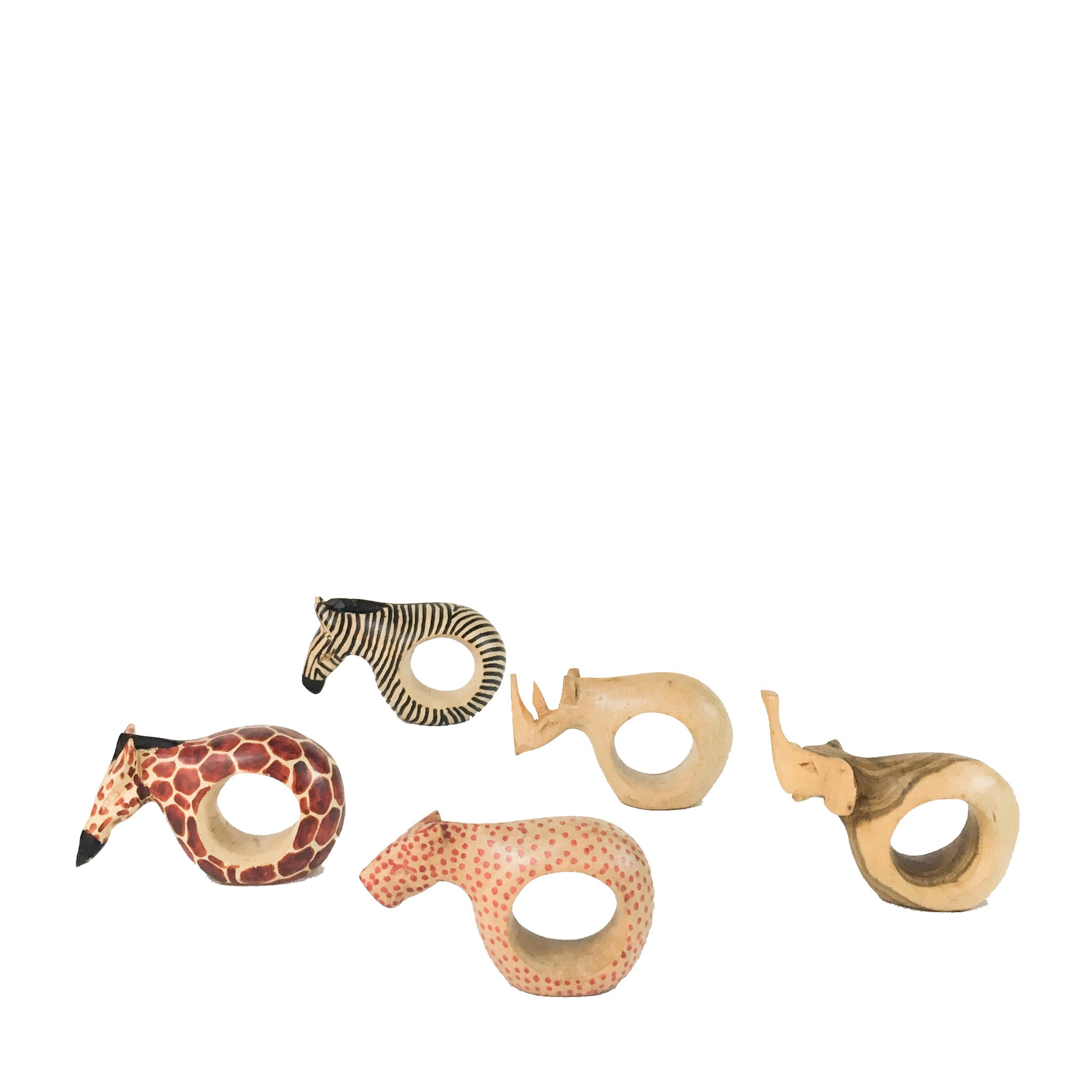 SAFARI NAPKIN RINGS - bunglo by shay spaniola - 1