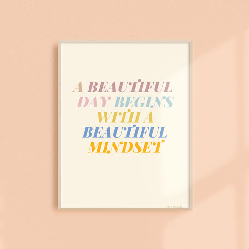 Beautiful Mindset Art Print