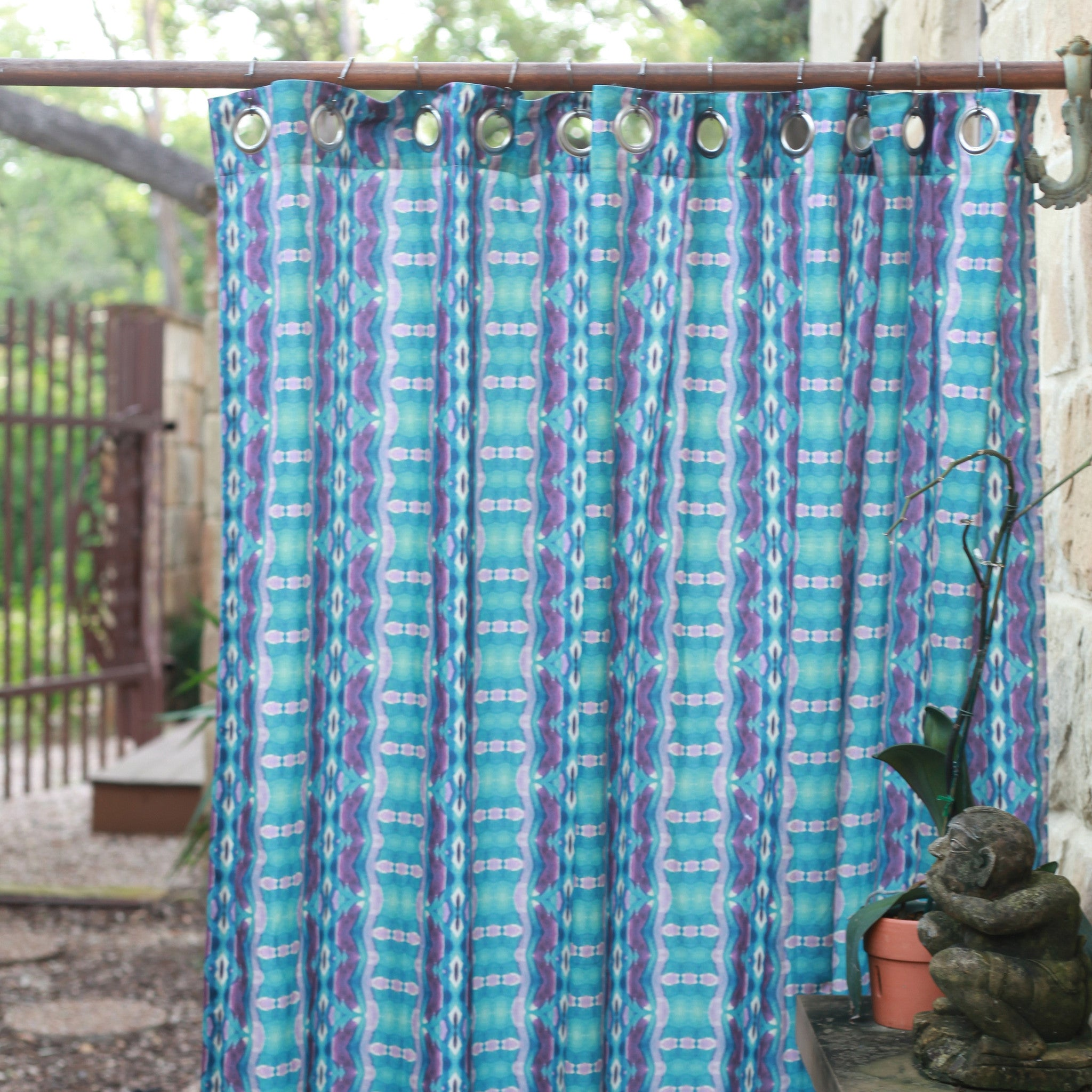 Mendoza Modern Shower Curtains – bunglo by shay spaniola