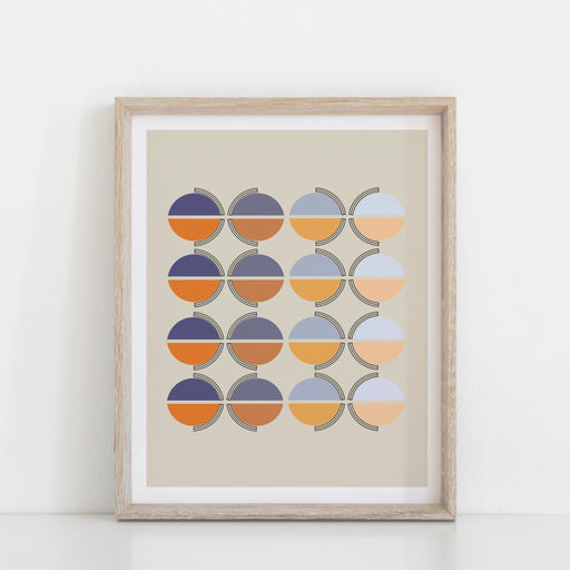 Orange Moon Art Print