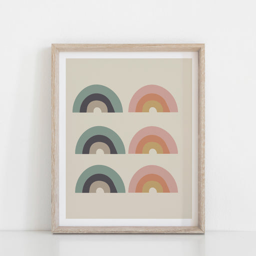 Rainbow Moon Art Print
