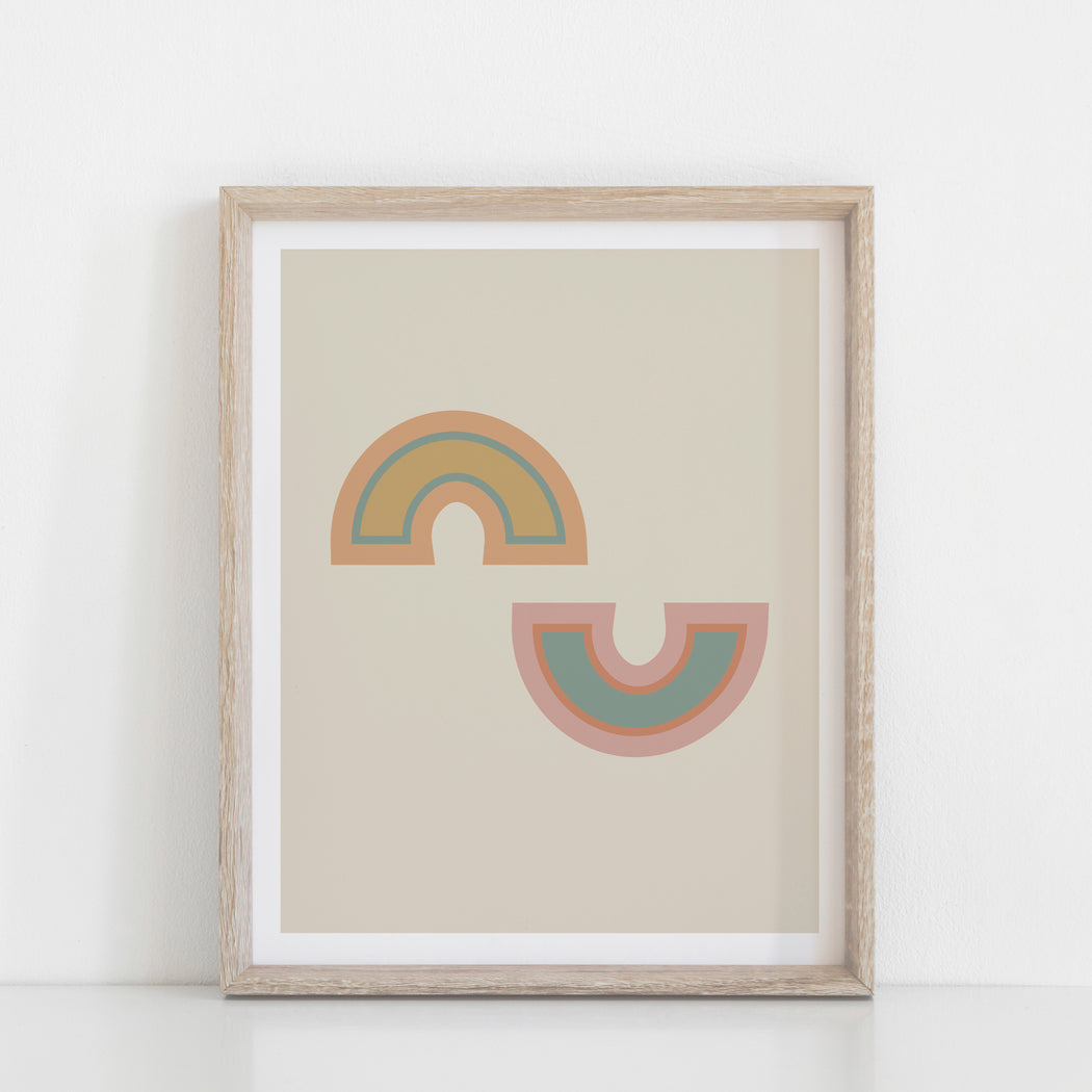 Rainbow Rising Art Print