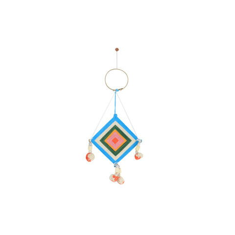 PEACH + TURQUOISE MINI THAI DREAM CATCHER