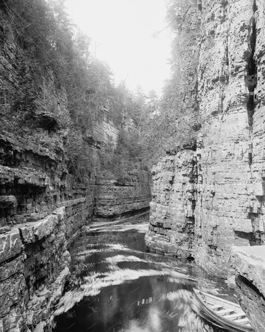 Ausable Chasm Gorge NY Vintage 8x10 Reprint Of Old Photo