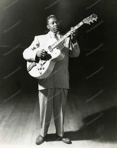 BB King Blues Guitar King Vintage 8x10 Reprint Of Old Photo