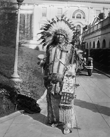 Chief Danl Pretty Bird 1929 8x10 Reprint Of Old Photo