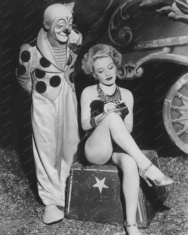 Circus Clown With Pretty Girl Vintage 8x10 Reprint Of Old Photo