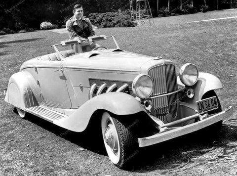 Clark Gable Duesenberg Automobile 1936 Vintage 8x10 Reprint Of Old Photo