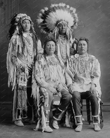 Crow Indian Group 8x10 Reprint Of Old Photo