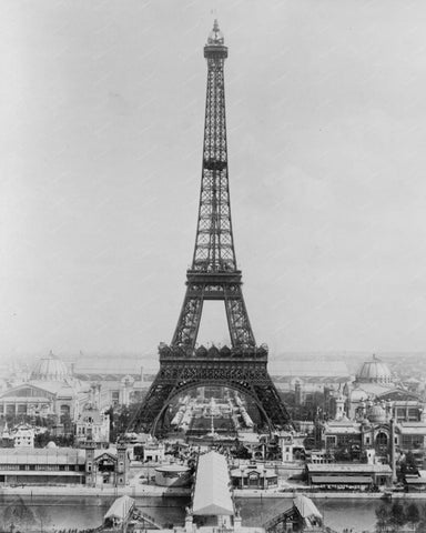 Eiffel Tower Paris Exposition 1889 Vintage 8x10 Reprint Of Old Photo 2