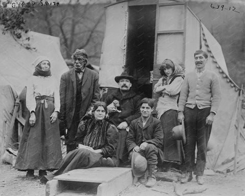Gypsies 1909 Vintage 8x10 Reprint Of Old Photo