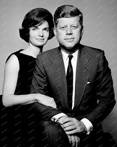 John & Jackie Kennedy Vintage 8x10 Reprint Of Old Photo