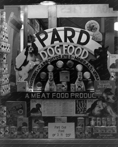 Pard Dog Food Window 8x10 Reprint Of Old Photo