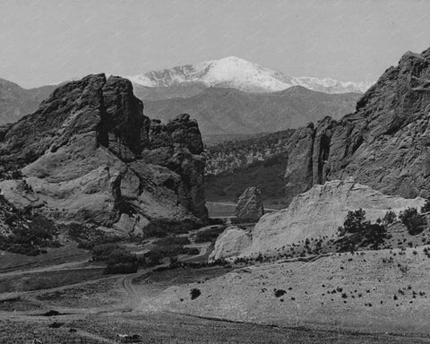Pikes Peak Garden Of The Gods Vintage 8x10 Reprint Of Old Photo