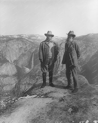 Theodore Rosevelt & John Muir Vintage 8x10 Reprint Of Old Photo