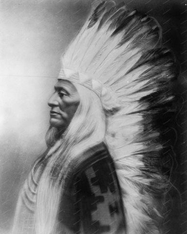 Washakie Chief of Shoshones 1900 8x10 Reprint Of Old Photo 1 - Photoseeum