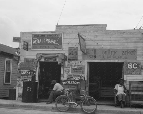 Williams Grocery With Soda Signs 8x10 Reprint Of Old Photo