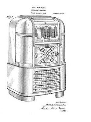 Rockola Jukebox Patents CD Collection of 22 Different Jukebox Art Prints - Photoseeum