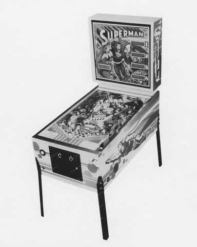 Atari Superman Pinball Machine 1979 8x10 Reprint Of Old Photo