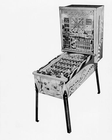Bally Acapulco Bingo Pinball Machine 1961 8x10 Reprint Of Old Photo