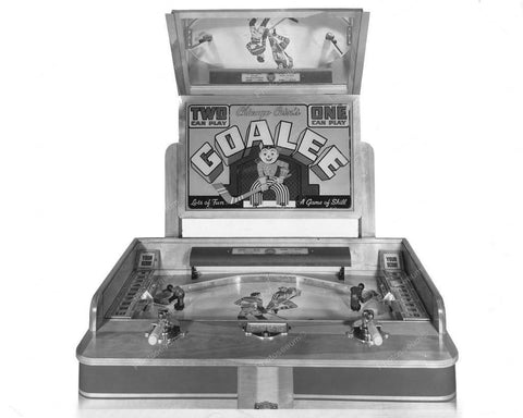 Chicago Coin Goalee Hockey Arcade Machine 1945 8x10 Reprint Of Old Photo