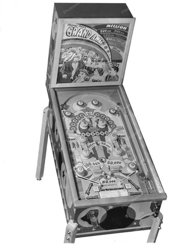 Chicago Coin Grand Award Pinball Machine 1949 8x10 Reprint Of Old Photo