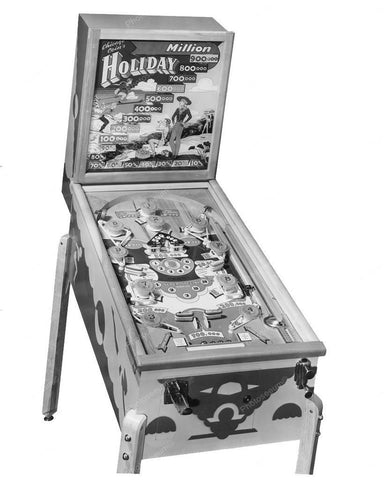 Chicago Coin Holiday Pinball Machine 8x10 Reprint Of Old Photo