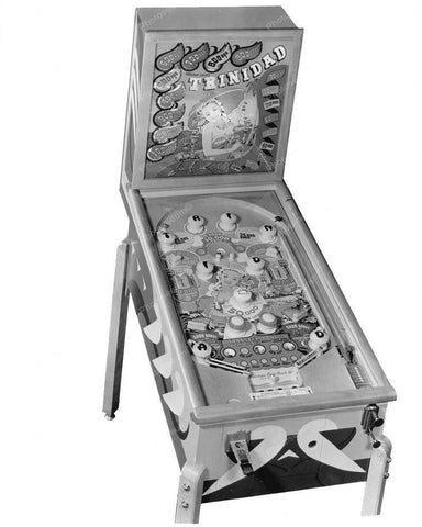 Chicago Coin Trinidad Pinball Machine 1948 8x10 Reprint Of Old Photo