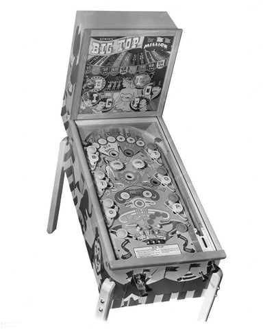Genco Big Top Pinball Machine 1949 8x10 Reprint Of Old Photo