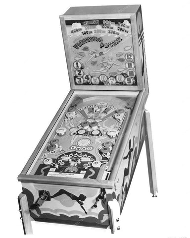 Genco Floating Power Pinball Machine 1948 8x10 Reprint Of Old Photo