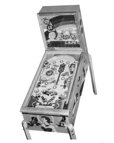 Genco Stop And Go Pinball Machine 1951 8x10 Reprint Of Old Photo