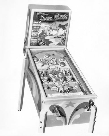 Genco Trade Winds Pinball Machine 1948 8x10 Reprint Of Old Photo
