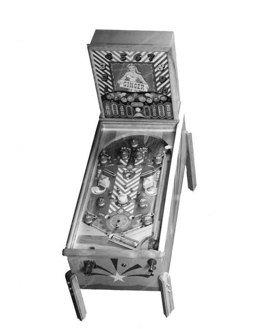 Williams Ginger Pinball Machine 1947 8x10 Reprint Of Old Photo - Photoseeum