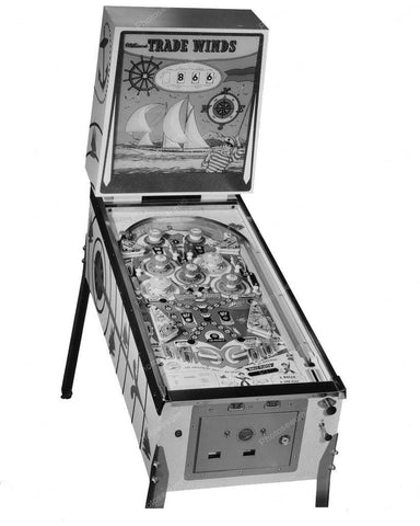 Williams Trade Winds Pinball Machine 1962 8x10 Reprint Of Old Photo - Photoseeum