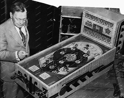 Bally Reserve 1938 Pinball Machine Vintage 8x10 Reprint Of Old Photo