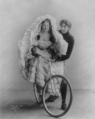 Bike Dress 1897 8x10 Reprint Of Old Photo