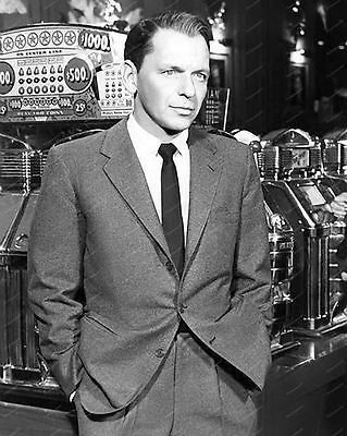 Frank Sinatra Slot Machine Casino Vintage 8x10 Reprint Of Old Photo