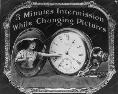 Intermission Screen Theater 3 Mins 1912 Vintage 8x10 Reprint Of Old Photo