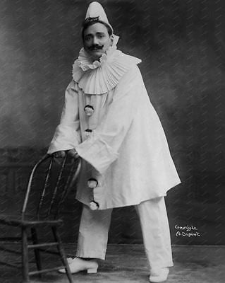 Italian Clown 1908 Vintage 8x10 Reprint Of Old Photo