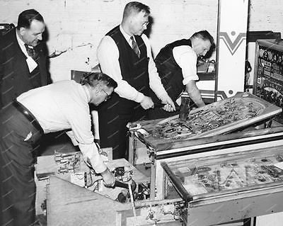 Keeney Pinball Machine Winning Ticket Payout 1938 8x10 Reprint Of Old Photo