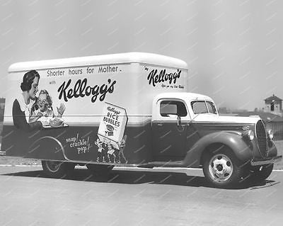 Kelloggs Rice Bubbles Truck Vintage 8x10 Reprint Of Old Photo