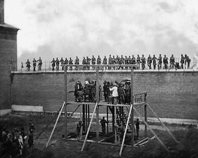Lincoln Conspirators Being Hung 1865 Vintage 8x10 Reprint Of Old Photo